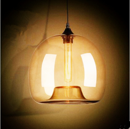 ᑎ‰Glass Nordic Retro Loft Style Industrial Lamp Edison Pendant ...