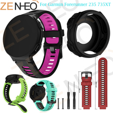 Watch Band Soft Silicone Replacement Wrist for Garmin Forerunner 735XT Protector Case For