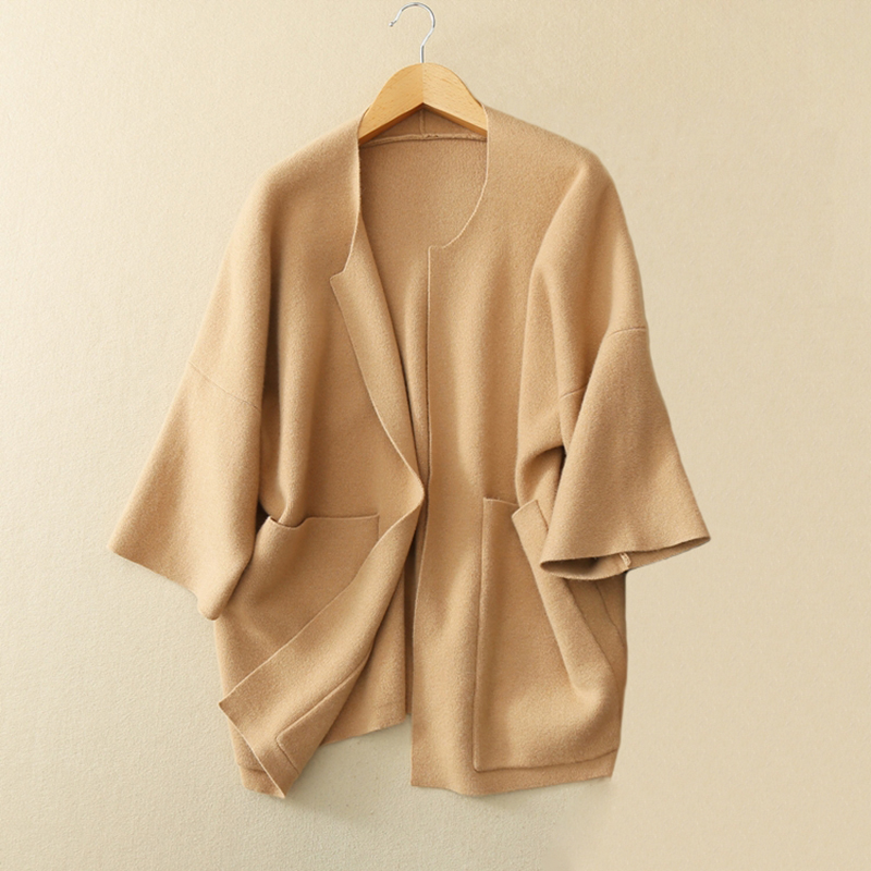 Cardigans Feminino 2017 100% Pure Cashmere O-neck Women's Fashion Long Knitted Cardigan New Styles Women's Open Cardigan Sweater