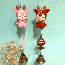 Creative lovable deer lovers pendant balcony decoration wind bell car children girls birthday gift
