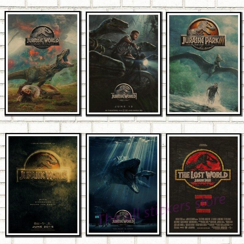 Jurassic Park Film Posters Classic Type Wall Stickers Kraft Paper Prints House Ornament Wall Sticker/9002