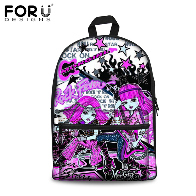 401a27fe7043 FORUDESIGNS MORGIRL Anime Printing School Bags for Girls Children School  Backpacks 3D Skulls Design Bad Monkey