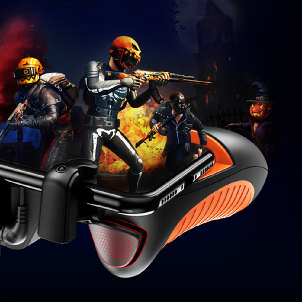 Image 5 - PUBG Mobile Controller Gamepad Cooling Fan Cooler for iOS Android Joystick Running Fire Button PUBG Peripheral 16 Rounds/Second-in Gamepads from Consumer Electronics