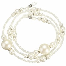 White Imitation Pearl Design Glasses Chain Eyewear Cord Reading Glass Neck Strap Eyeglass Holder Accessories Jewelry Findings