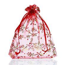 Hoomall 25PCs Christmas Gift Bags Christmas Decorations For Home New Year Christmas Ornaments Tree Hanging Pendant Bags Navidad