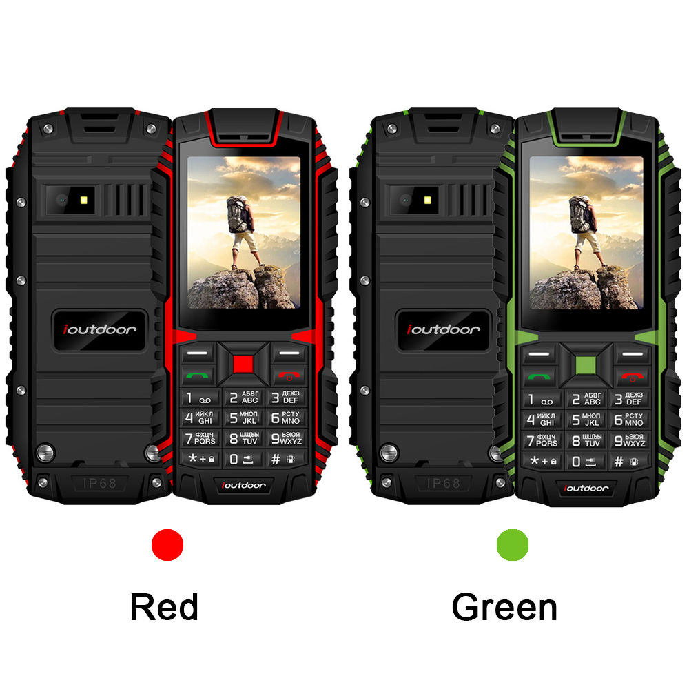 Image 2 - Ioutdoor T1 IP68 rugged cell phone Russian keyboard Waterproof shockproof mobile phone 2MP Camera wireless FM unlocked phones-in Cellphones from Cellphones & Telecommunications