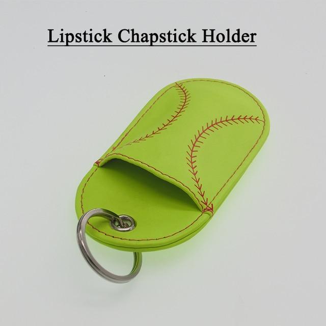 42e37e152f8c Aliexpress.com   Buy Baseball Softball Key Ring Chapstick Holder ...