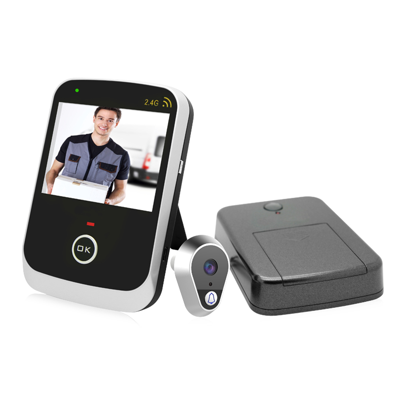 ФОТО Factory Direct Sale Kivos KDB307A Wireless Mirilla Mini Digital Door viewer Peephole Desktop/Handheld 3.5'Monitor 2.4G Transfer