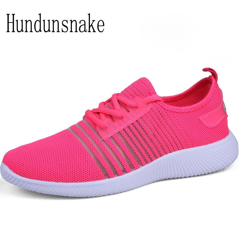 Hundunsnake Barefoot Shoes Women Pink Sneakers 2018 Women