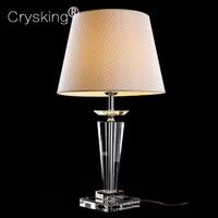 Modern LED Table lamp Lustre Crystal Table Lamps For Bedroom Bedside Russia Lampshade Abajur Lampara De Mesa Tafellamp Luminaria