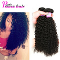 Indian Hair Kinky Curly 8A Grade Virgin Unprocessed Human Hair Indian Curly Virgin Hair Pizazz Kinky Curly Weave 3 Bundles Deal