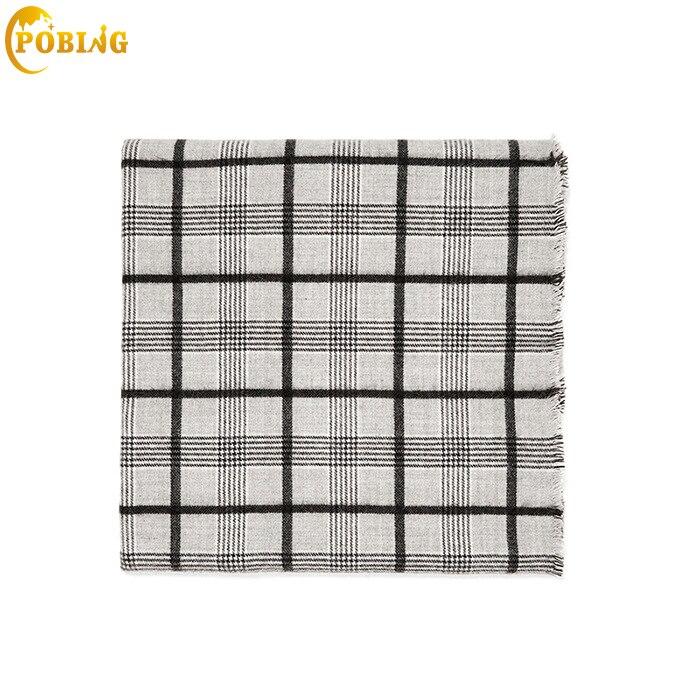 POBING Brand New za Winter   Scarf   Women Tartan Plaid Cashmere   Scarves     Wraps   Basic Acrylic Shawl Female Blanket   Scarf   Lady Poncho