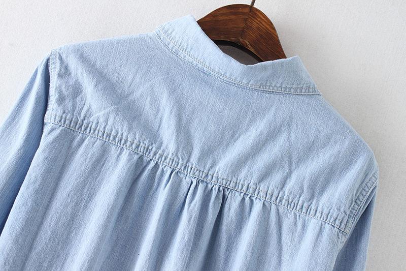 Dreawse Stop118 ヴィンテージジーンズシャツ女性長袖プラスサイズジーンズシャツカジュアルストリート女性はデニムシャツブラウス女性服 最終割引 10