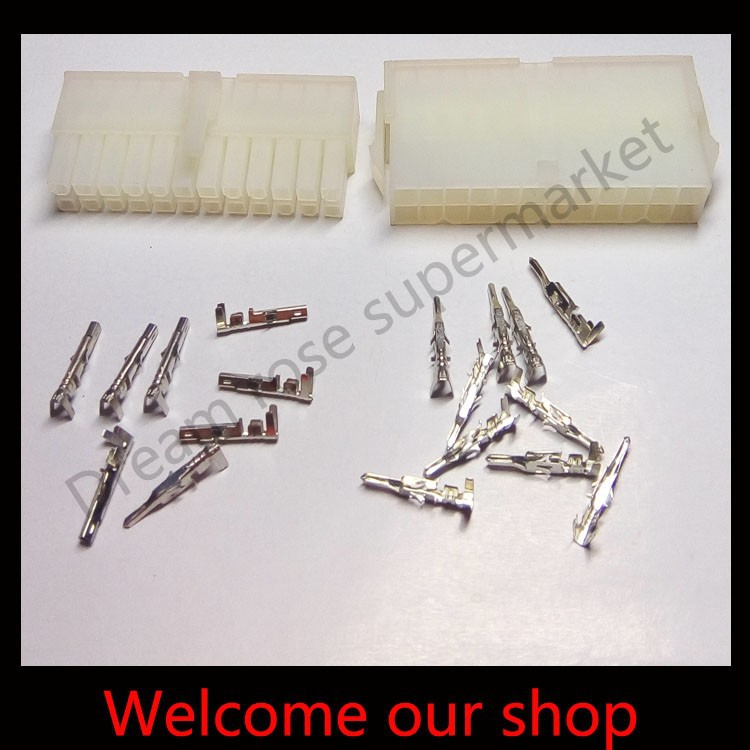 Free Shipping 10sets 24 Pin way 4 2mm 5557 wire terminal connector automotive wiring connector kits