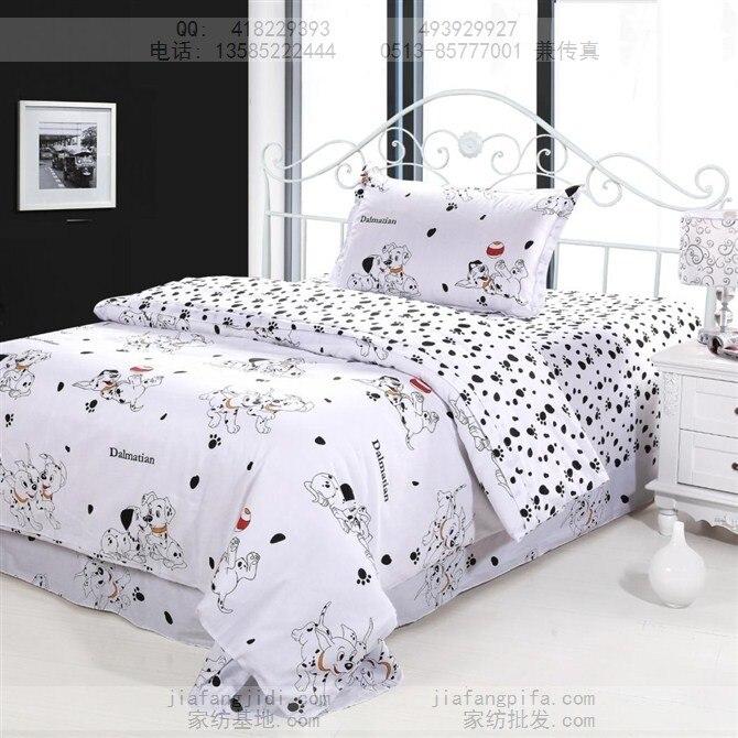 twin bed sheet sets Dog print bedding sets cotton bed sheets bedspread kids cartoon  twin bed sheet sets