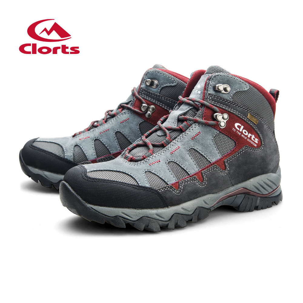 Clorts Hiking Shoes For Men Outdoor Hiking Boots High Top Waterproof Trekking Shoes Male Breathable Climbing Shoes HKM-823A/B/F yin qi shi man winter outdoor shoes hiking camping trip high top hiking boots cow leather durable female plush warm outdoor boot
