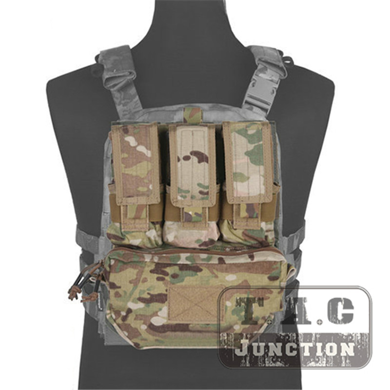 Emerson MOLLE Assault Pack Panel Multicam AOR2 Plate Carrier Back Bag With M4 M16 5.56 Magazine Pouch For CPC AVS JPC 2.0 Vest