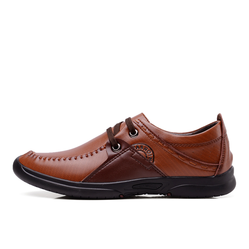 2016 new mens Lace-up Genuine Leather casual business shoes spring autumn fashion breathable men shoes comfortable driving shoes