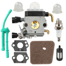 Carburetor with Air Filter Fuel Line Gasket Spark Plug Kit for STIHL FS38 FS45 FS46 FS55 KM55 FS85 цены онлайн