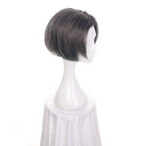 """Image 3 - Ccutoo 12 """"מיילס Edgeworth תסרוקות מרכזית פרידה גריי קצר המפלגה של התנגדות חום שיער סינטטי קוספליי פאה לגברים"""