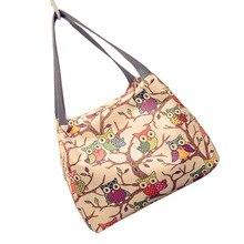 Fashion Night Owl Women's Handbag Quality Oxford Female Casual Totes Bag Ladies Mini Trunk Style Portable Top-handle Handbags