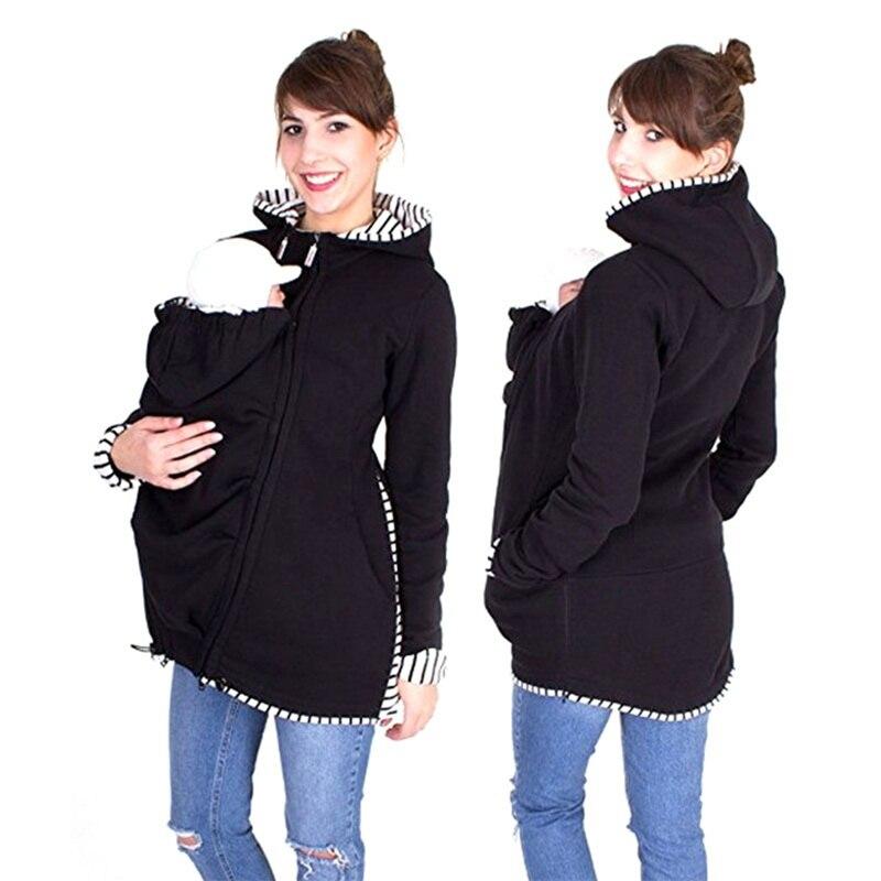 Papa Chen Baby Halter Mutterschaft Träger Sweatshirts Schwangere Multifunktions Warme Baumwolle Känguru Mantel Oberbekleidung Jacke Träger