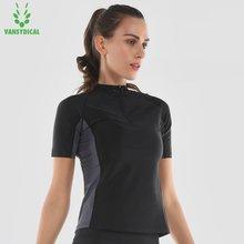 Quick Perspiration gym Sports Shirts Tops Women's Half Zipper Yoga Shirts Running Workout Body Shapers Hot Sweat Shirts