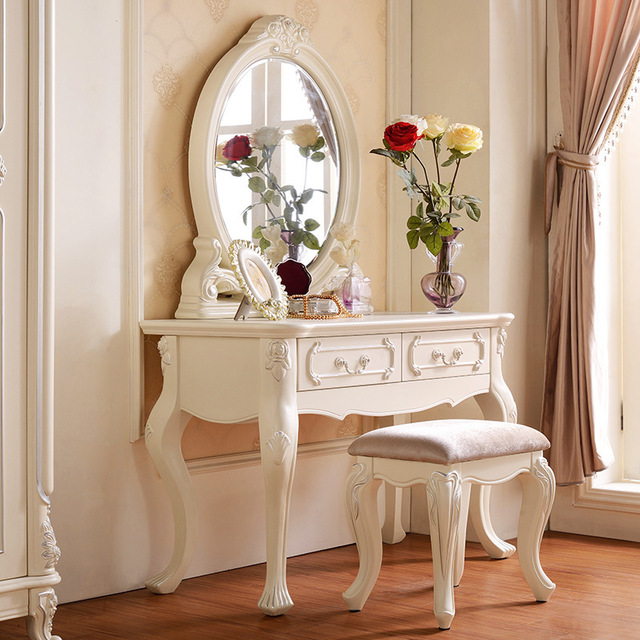 Modern furniture princess wood dressing table dresser solid wood dresser cust - Commode coiffeuse ikea ...