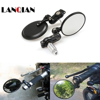 Motorcycle Mirror View Side Rear Mirror 7/8 22mm Handle bar For BMW K1600 GT GTL R1200GS R1200R Yamaha MT 03 MT 07 MT 09