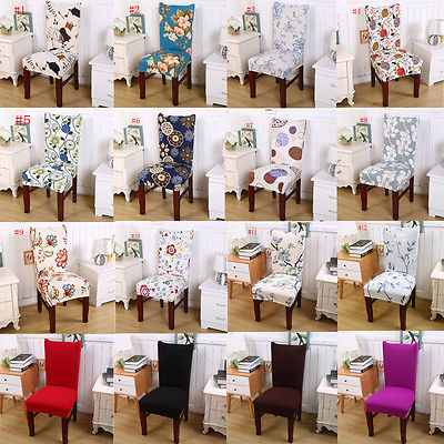 1//6//8pcs Floral Dining Chair Covers Removable Slipcovers Stretch Wedding Banquet