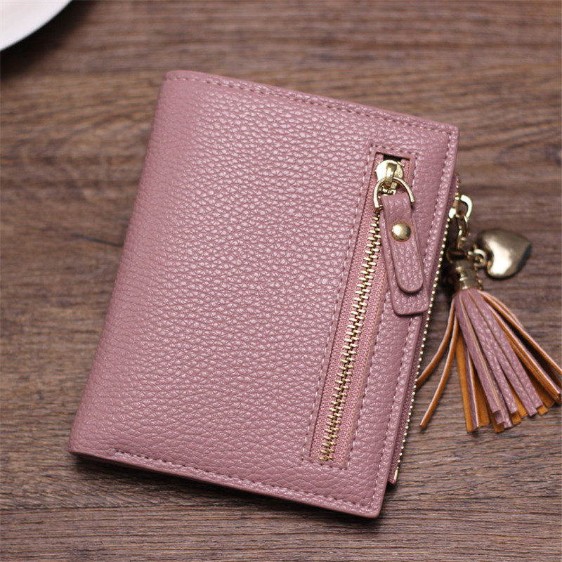 Brand New 2017 Fashion Women Wallet Tassel Short Wallets Large Capacity Zipper Hasp Ladies Bag Purse Money Female Credit Card