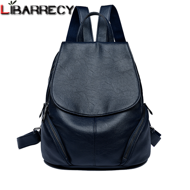 Fashion Double Zipper Backpack Female High Quality Leather Womens Backpack Large Capacity School Bag for Girls Travel Bag 2018Fashion Double Zipper Backpack Female High Quality Leather Womens Backpack Large Capacity School Bag for Girls Travel Bag 2018