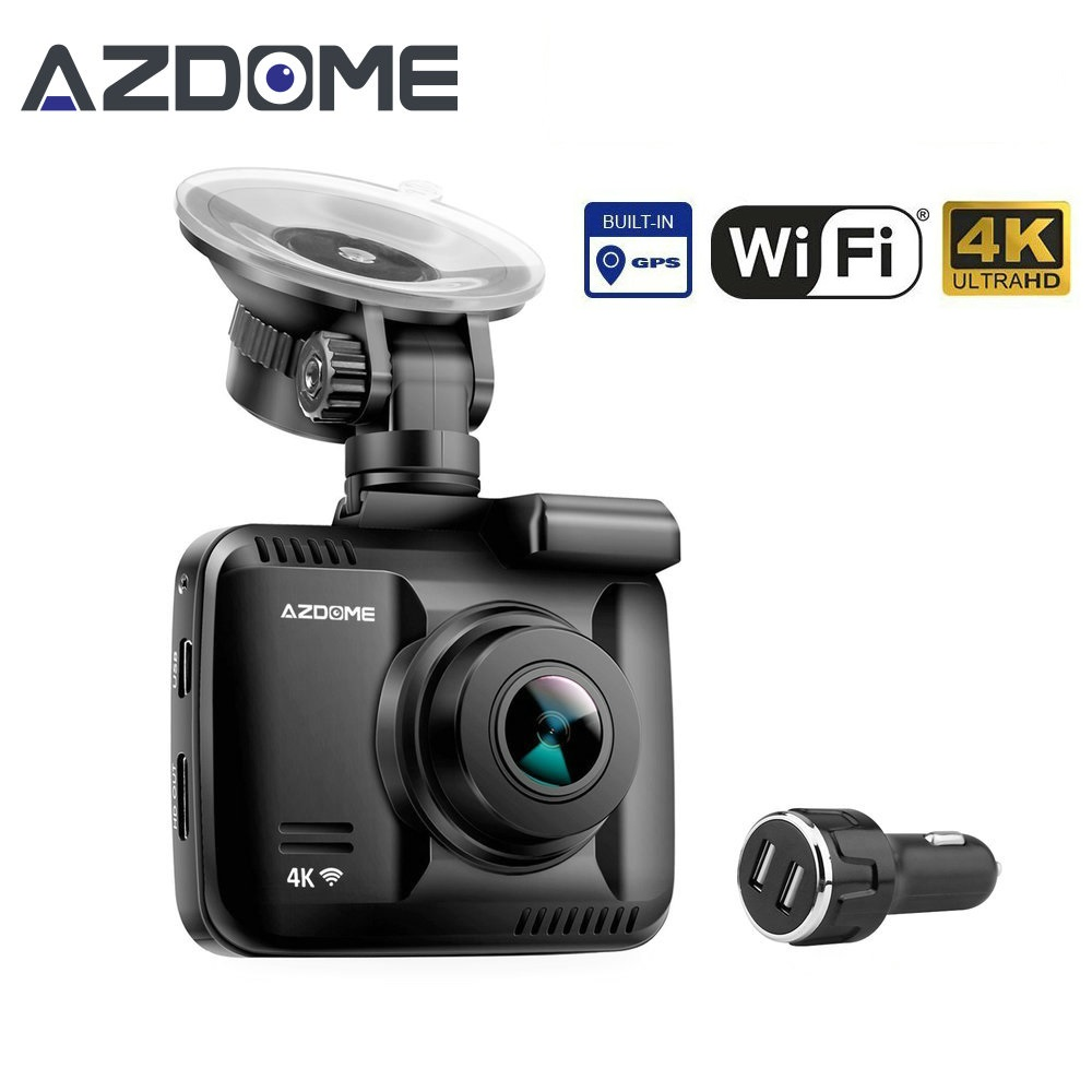 Azdome GS63H Car Dash Cam 4K HD Dash Camera 150 Degree Wide View Angle With GPS WiFi G-Sensor Loop Recording Parking Monitoring gs 6301 hd купить во владимире