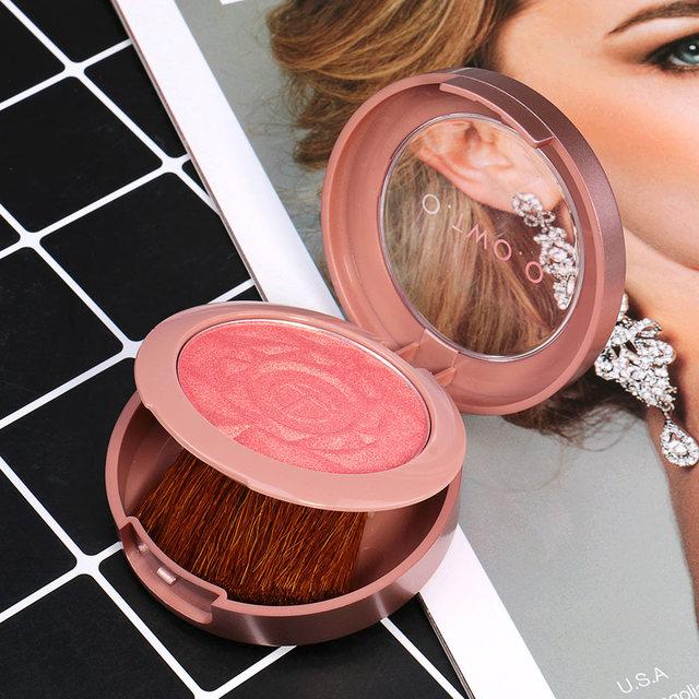 O.TWO.O Face Blusher Powder Palette Makeup Cheek Blusher Powder Minerals Palettes Blusher Brush Palette Cream Natural Blush 5