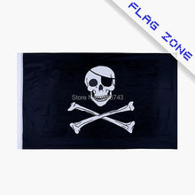 Large Skull Crossbones Pirate Flag Jolly Roger Polyester 5*3 FT 150*90 CM Flag (Leave massage if you want add eyelets)