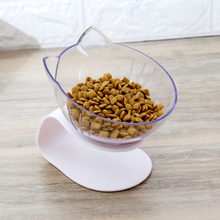 Transparent One Dual Port Dog Water Dispenser Feeder Utensils Bowl Pet Cat Food Water Feeding Bowl(China)