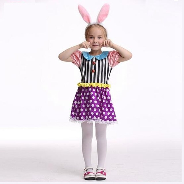 Girls Cute Rabbit Costume Cosplay Girl Childrens Day Bugs Bunny