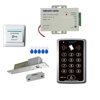 RFID access control kit Access control with bolt lock Glass door keypad kits Mortise lock