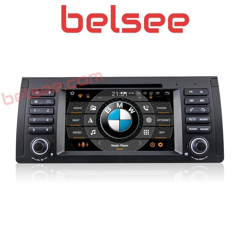 Belsee Octa Core 4 gb PX5 Android 8.0 Radio Multimédia Unité de Tête De Voiture Lecteur DVD GPS Navigation pour BMW E39 m5 X5 E53 1996-2003