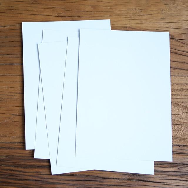 DIY 자유 그리기 만든 카드 종이 쓰기 350 그램 화이트 메시지 카드 제품 크기 29.5X20 센치메터 팩 5 개