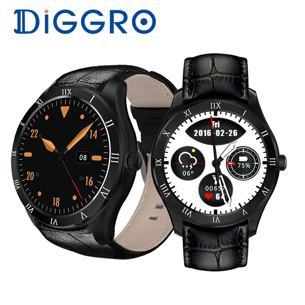 Diggro DI05 Montre Smart Watch MTK6580 512 MB + 8 GB Bluetooth 4.0 Support 3G NANO SIM Carte WIFI GPS 1.39 pouces AMOLED Montre Smart Watch VS Xiaomi