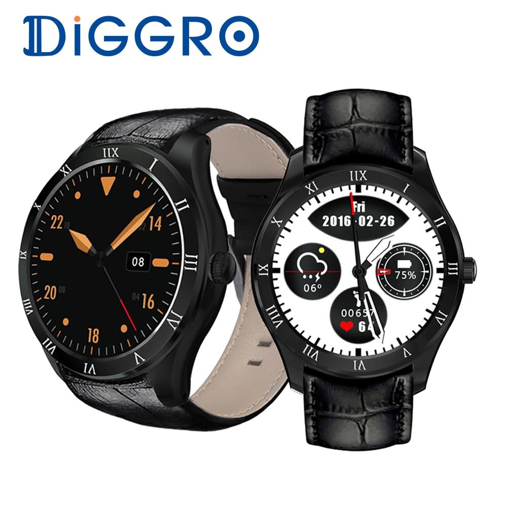 Diggro DI05 Smart Watch MTK6580 512MB+8GB Bluetooth 4.0 Support 3G NANO SIM Card WIFI GPS 1.39inch AMOLED Smart Watch VS Xiaomi smart baby watch q60s детские часы с gps голубые