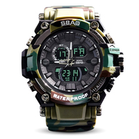 New 2017 Quartz Digital Camo Watch Men Dual Time Man Sports Watches Men S Shock Military