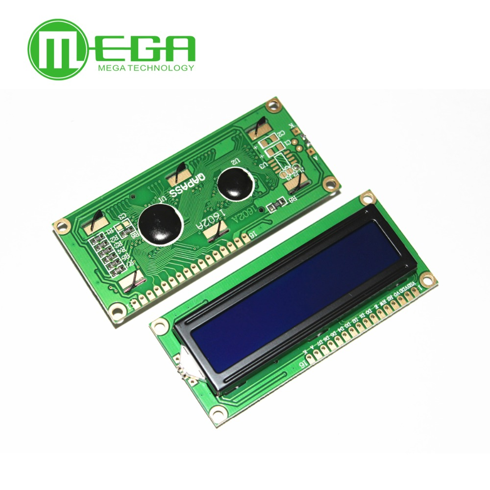 New 1602 LCD Display Module  LCD1602 5V 16x2 Character LCD Display Module Controller Blue Blacklight White Code For Arduino