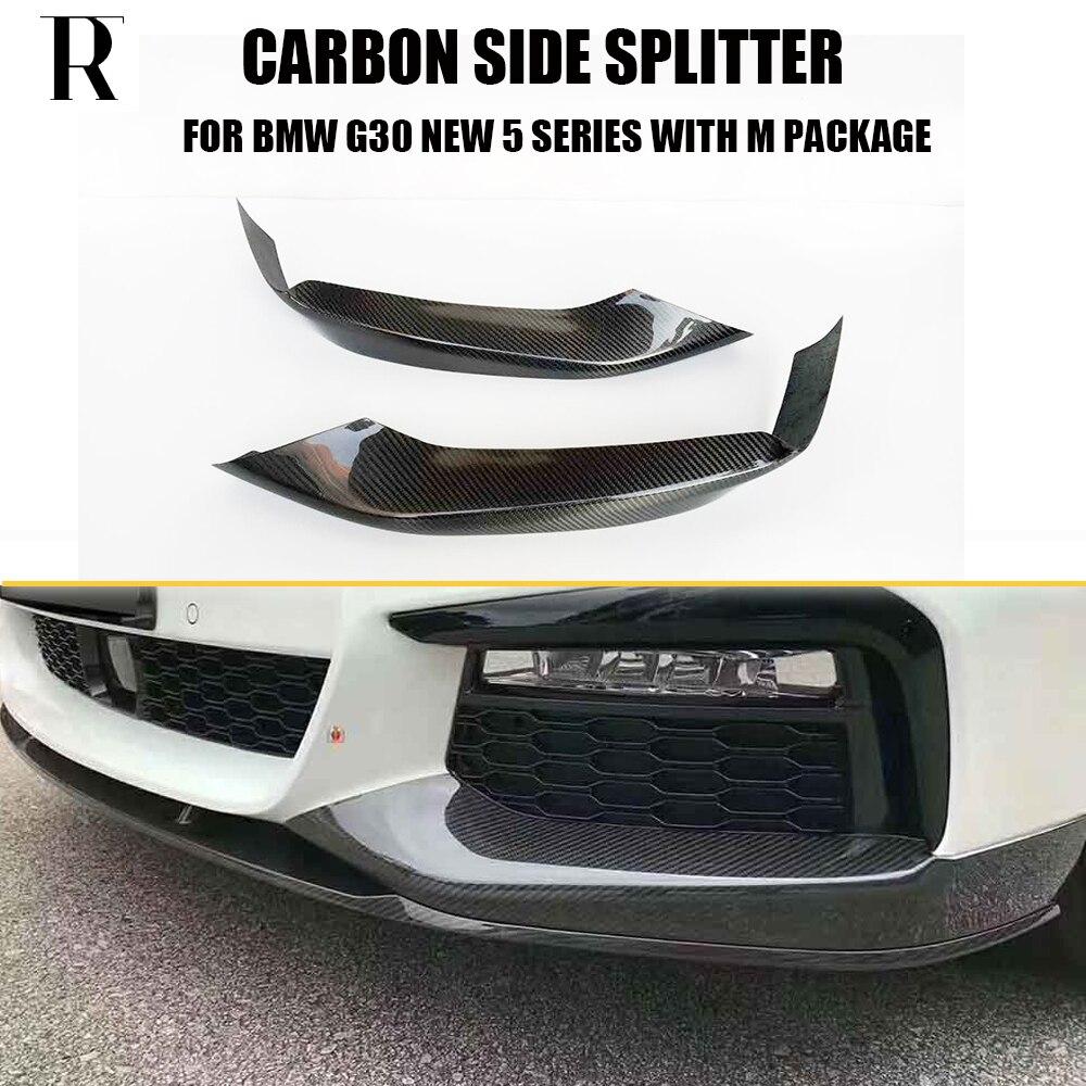 G30 G31 углеродное волокно передний бампер боковой сплиттер фартук для BMW 520 530 540 550 с M упаковкой 2017 UP