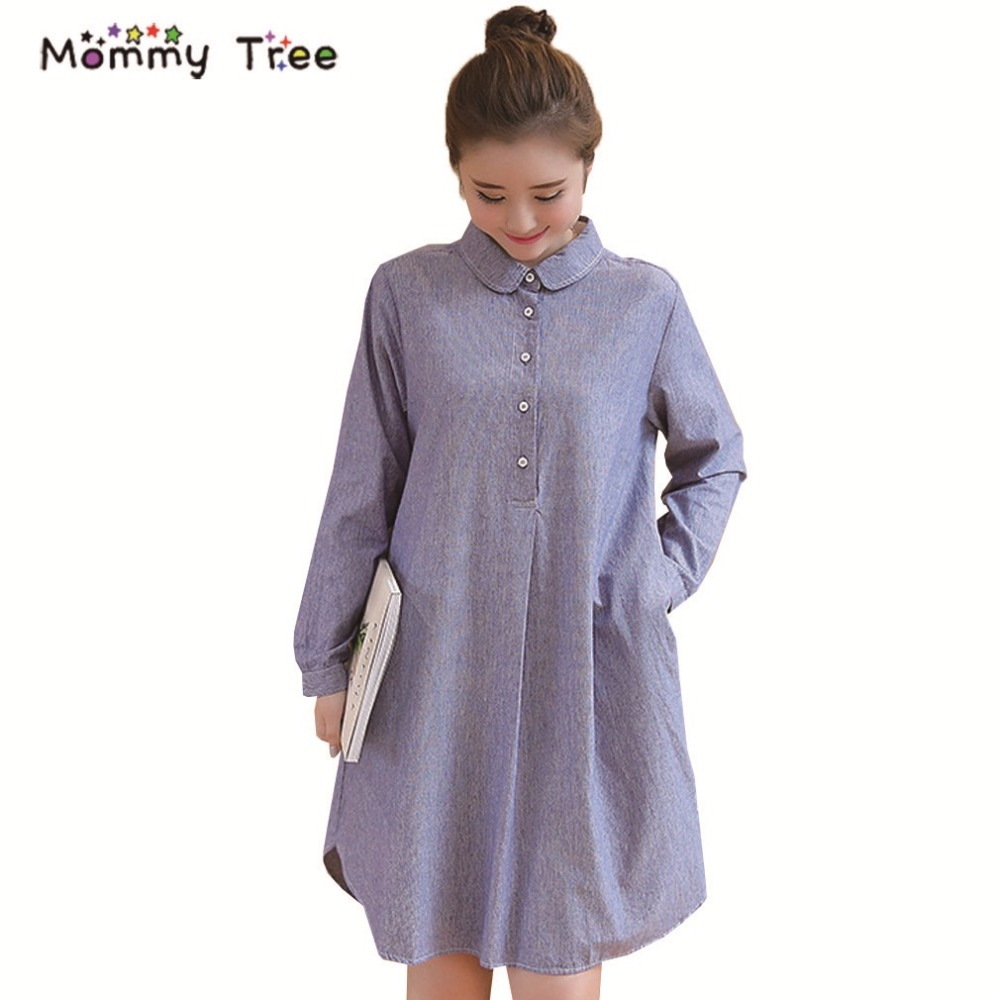 Online get cheap blue pregnancy dress aliexpress alibaba group spring long sleeve pregnancy shirt dresses for pregnant women stripes maternity clothes for work women blue ombrellifo Choice Image
