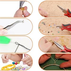 Image 2 - 768Pcs Jewelry Making Kit Accessories Repair Tool Craft Pliers Findings 15 Grid Beading Metal Handmade DIY Head Pins Ear Wire