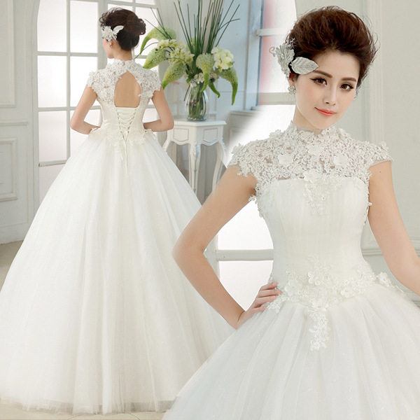 Adding Cap Sleeves Wedding Dress To: New Design 2017 Ball Gown Cap Sleeve Puffy Sexy Wedding
