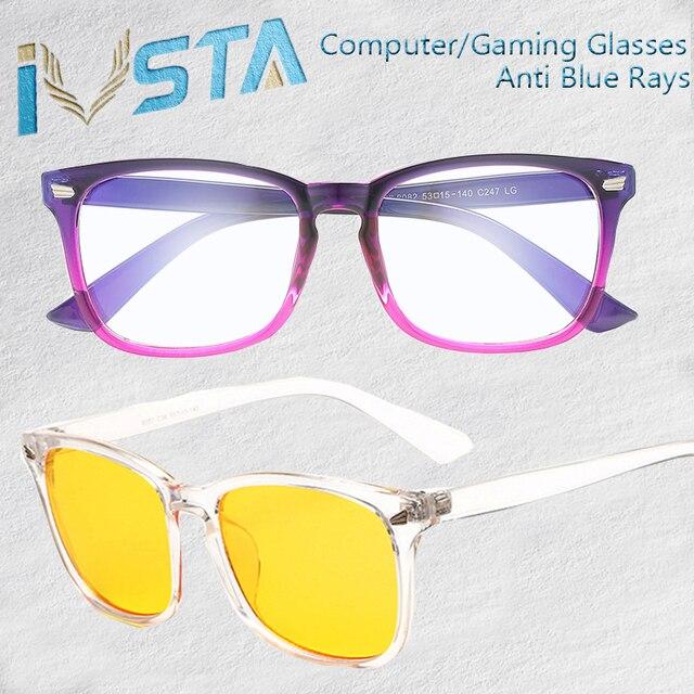 b29fa48a0c401 IVSTA Blue Light Gaming Óculos Homens Mulheres Óculos de Lentes Ópticas anti  raios azuis Computador Óculos