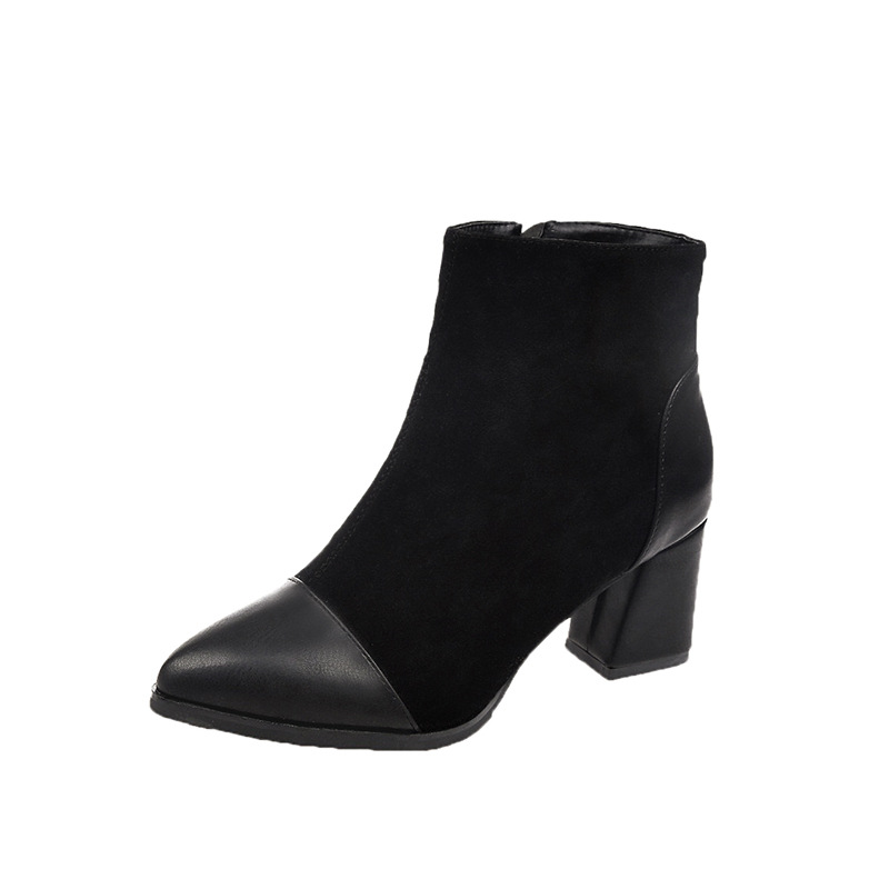 2018 autumn womens boots European and American fashion large size pointed side zipper high heel ladies boots black ljj 11212018 autumn womens boots European and American fashion large size pointed side zipper high heel ladies boots black ljj 1121